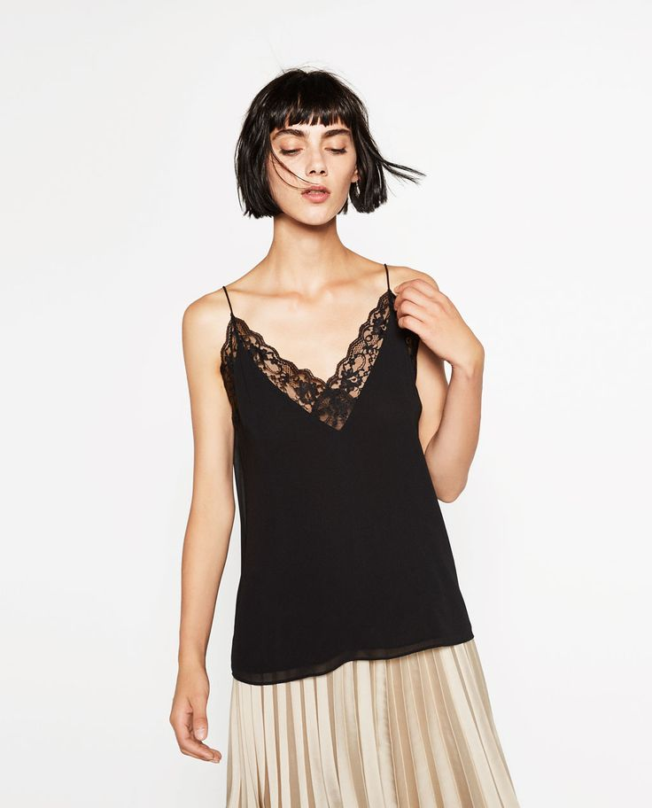 ZARA - WOMAN - LACE CAMISOLE TOP
