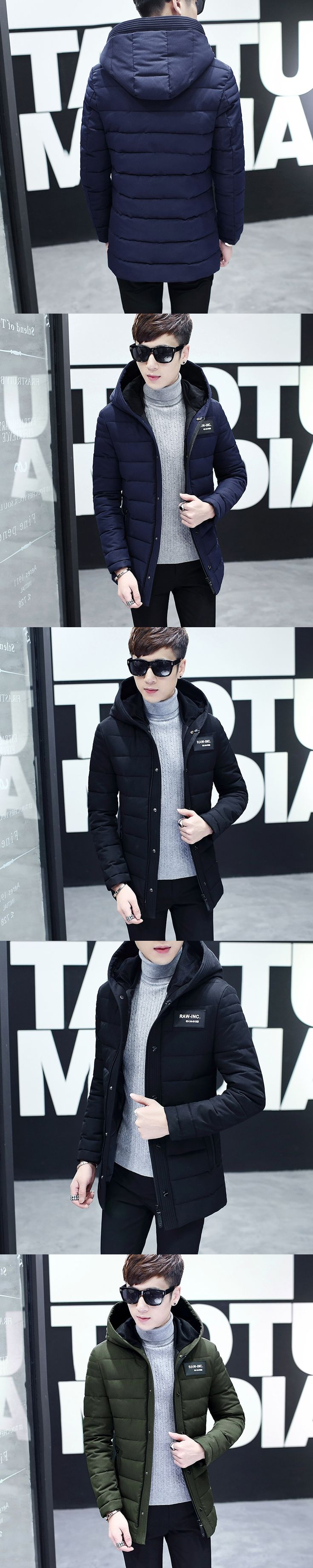 Winter Jacket Men Casual Thick velvet Warm Jackets Anti freezing Parkas hombre Mens cotton army Hooded jacket long trench coat