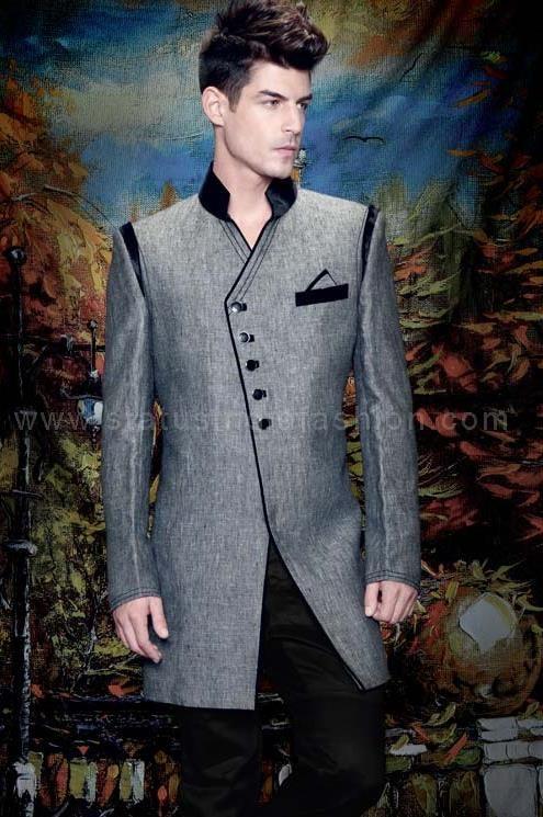 Sherwani Indowestern Designer Groom Wear Stylish Mens Indian Statusindiafashion