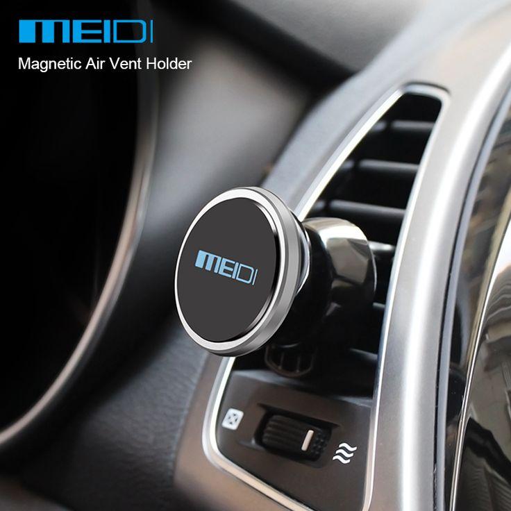 Meidi mountl magnética universal air vent titular del teléfono del coche soporte para teléfono móvil para el iphone 6 plus gps samsung teléfono móvil soporte