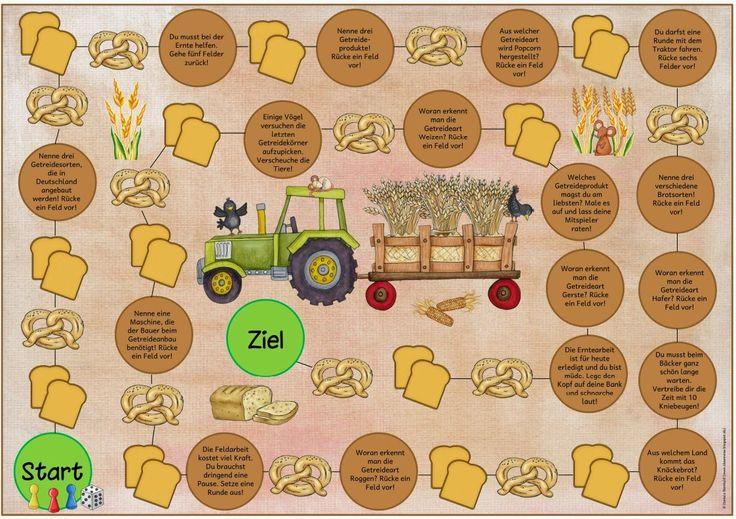 """Ideenreise: Lese- Spielfeld zum Thema """"Vom Getreide zum Brot"""""""