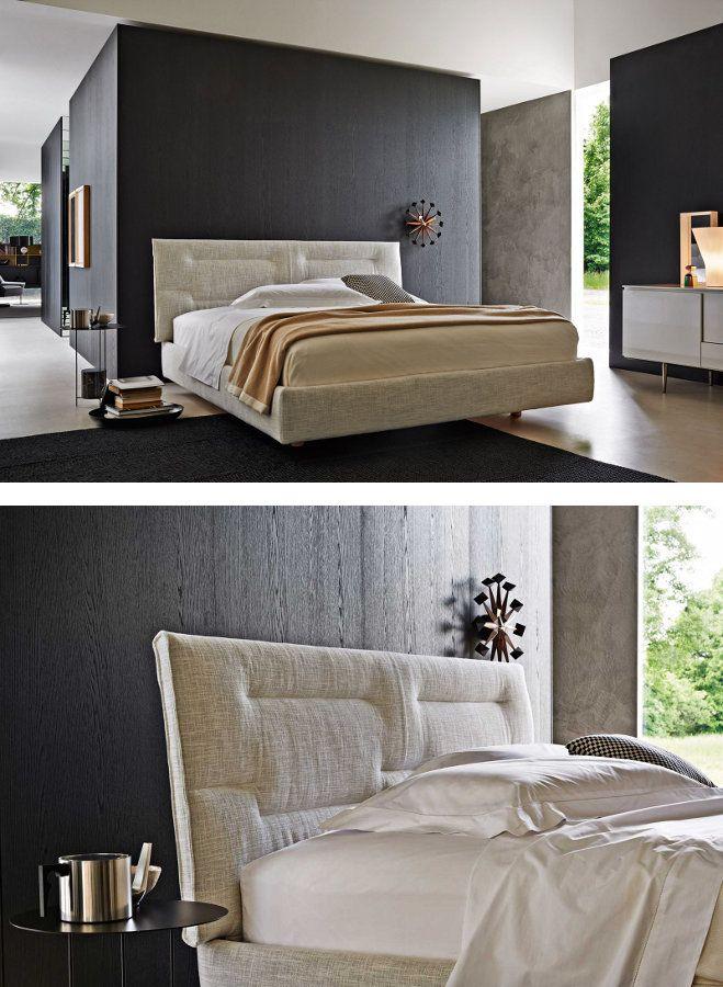 Molteni c presents the nature bed in the flagship store for Molteni arredamenti