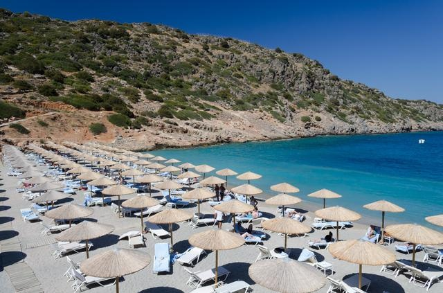 The amazing Daios Cove on Crete, Greece, is a man-made masterpiece!