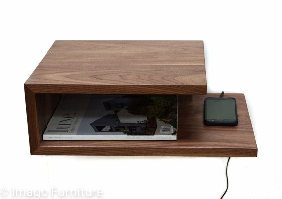 Open Floating Nightstand от ImagoFurniture на Etsy