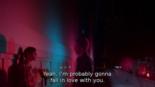 This movie. Comet. Omg.....this line. I'm such a romantic. *sigh* Q.