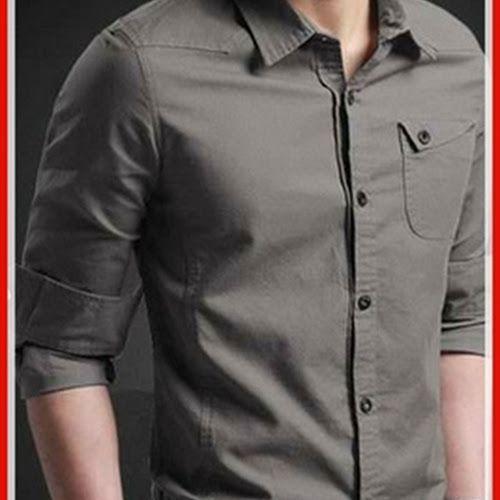 Model21smf setelan kemeja cowo motif jeans Baju Murah