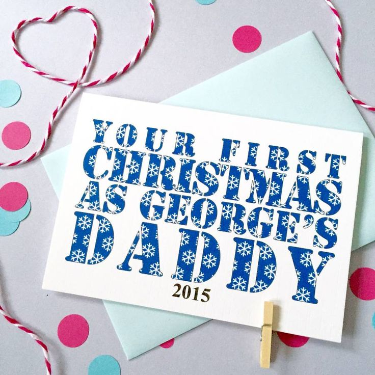 Personalised First Christmas As Parents Card