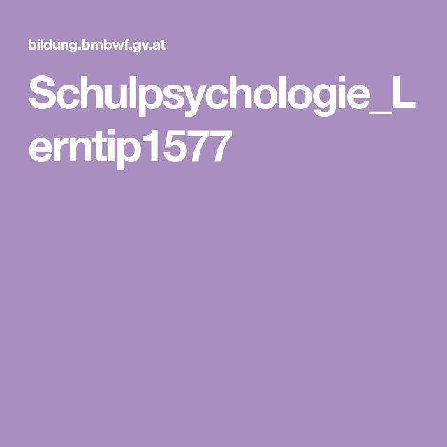 Schulpsychologie_Lerntip1577 | Grundschule primary school | Pinterest
