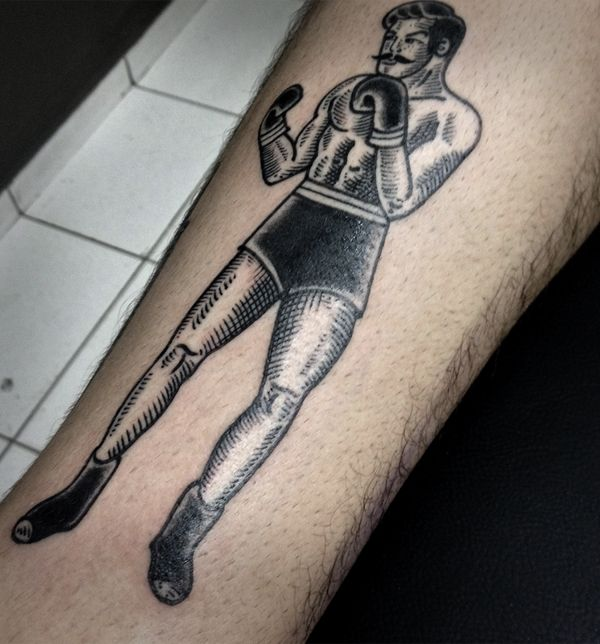 Boxe Tattoo by Guilherme Hass, via Behance
