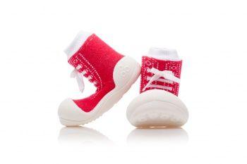 Oddychające antypoślizgowe buciki Attipas - Sneakers Red