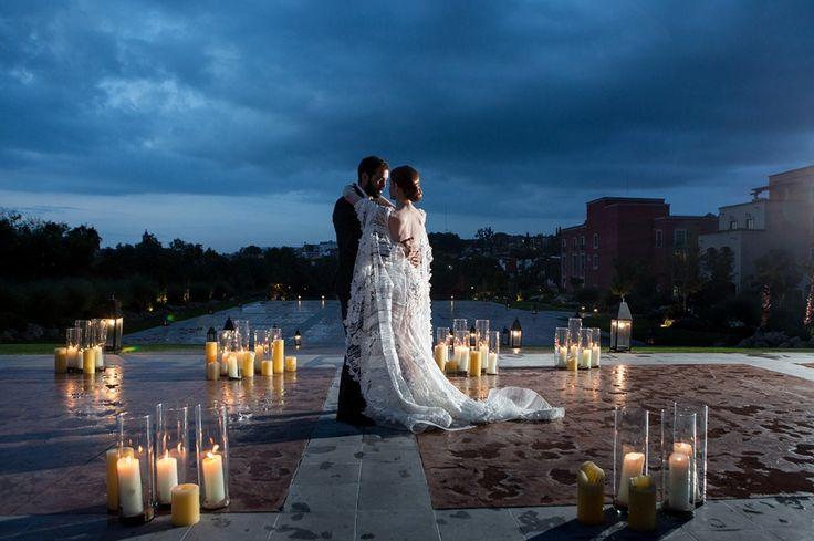 dramatiques photos de mariage de nuit