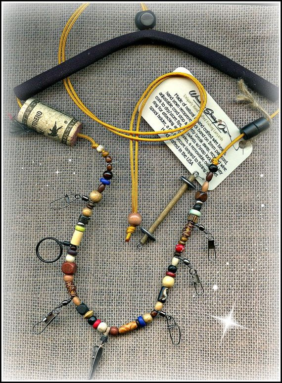 Hand Crafted Fly Fishing Lanyard with Mixed by EchoCanyonLanyards. 23.    Add nipper