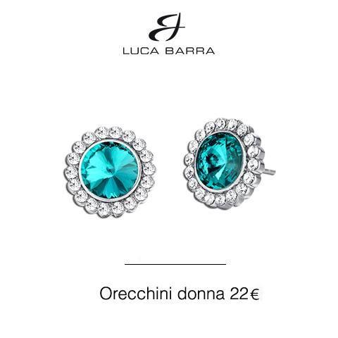 Orecchini in metallo con cristalli bianchi e verde acqua Luca Barra Gioielli! #orecchinidonna #gioiellidonna #gioielli2015 #gioielliestate2015 #lucabarra #tendenzemoda #outfit #consiglidistile