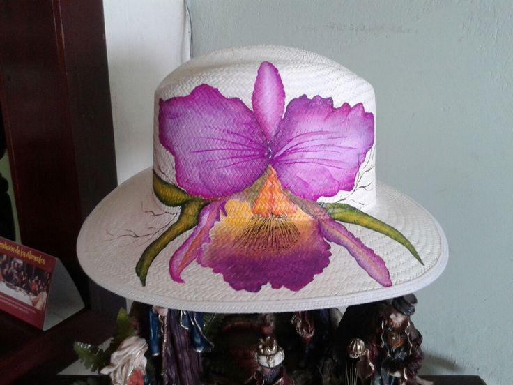 Resultado de imagen para decoraciones con orquideas pintadas en tela