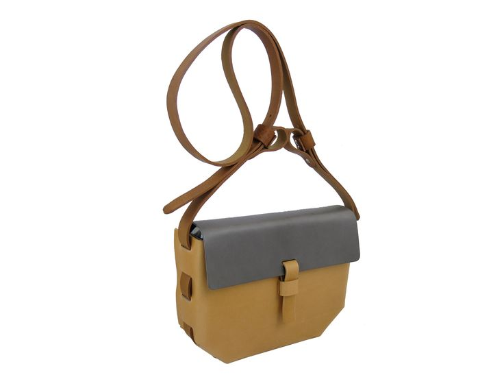 Grey and Camello Hex Bag Main Image