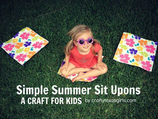 Crafty Texas Girls: Craft It: Sit Upon using a Vinyl Tablecloth