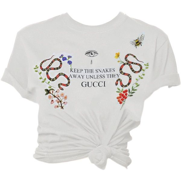 0fc4d6dcf keep the snakes away unless hey gucci tee ❤ liked on Polyvore featuring tops,  t-shirts, gucci, gucci top, gucci t shirt, snake t shirt and gucci tee