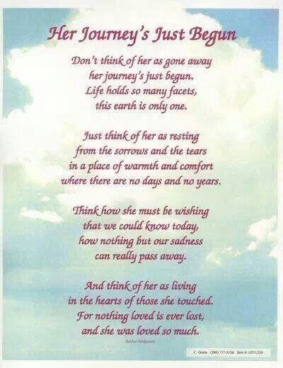 her joney just began | Grief | Pinterest | Funeral quotes ...