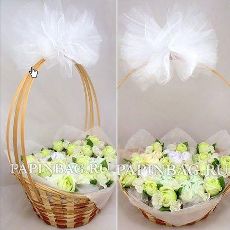 """Baby-букет из детской одежды """"Сливочное кружево"""" http://www.papinbag.ru/?m=5669"""