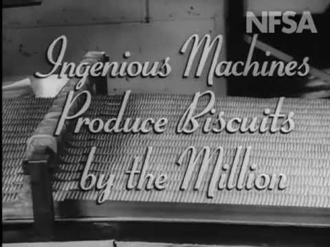 short film from Australian Diary 46. A quick tour of a biscuit factory making all the old Australian favourites like SAO, Iced VoVo and Monte Carlo; by the millions. Produced by The National Film Board 1951