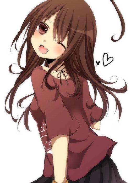 Kawaii anime/manga girl character.
