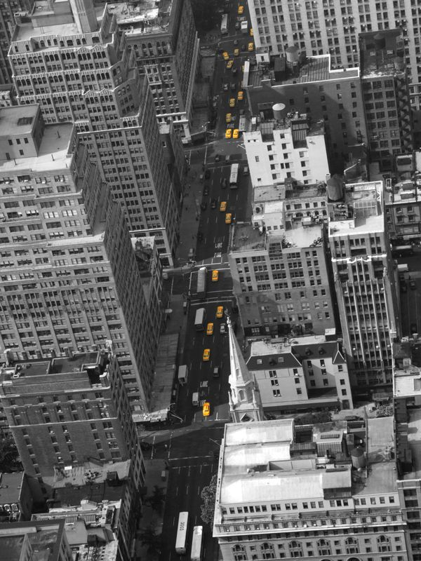 Yellow Cabs In New York Wall Mural