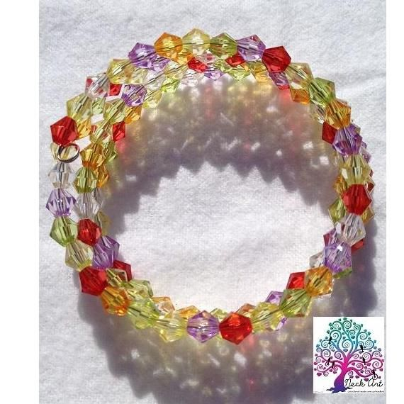 $3.5 Childrens Bracelet Multi Colours 2 by NeckArt on Handmade Australia