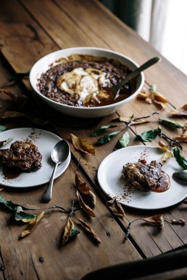 Spiced Date & Caramel Vegan Self Saucing Pudding