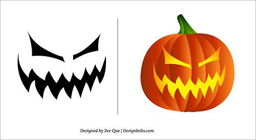 Halloween 2013 Free Scary Pumpkin Carving Patterns / Ideas / Stencils