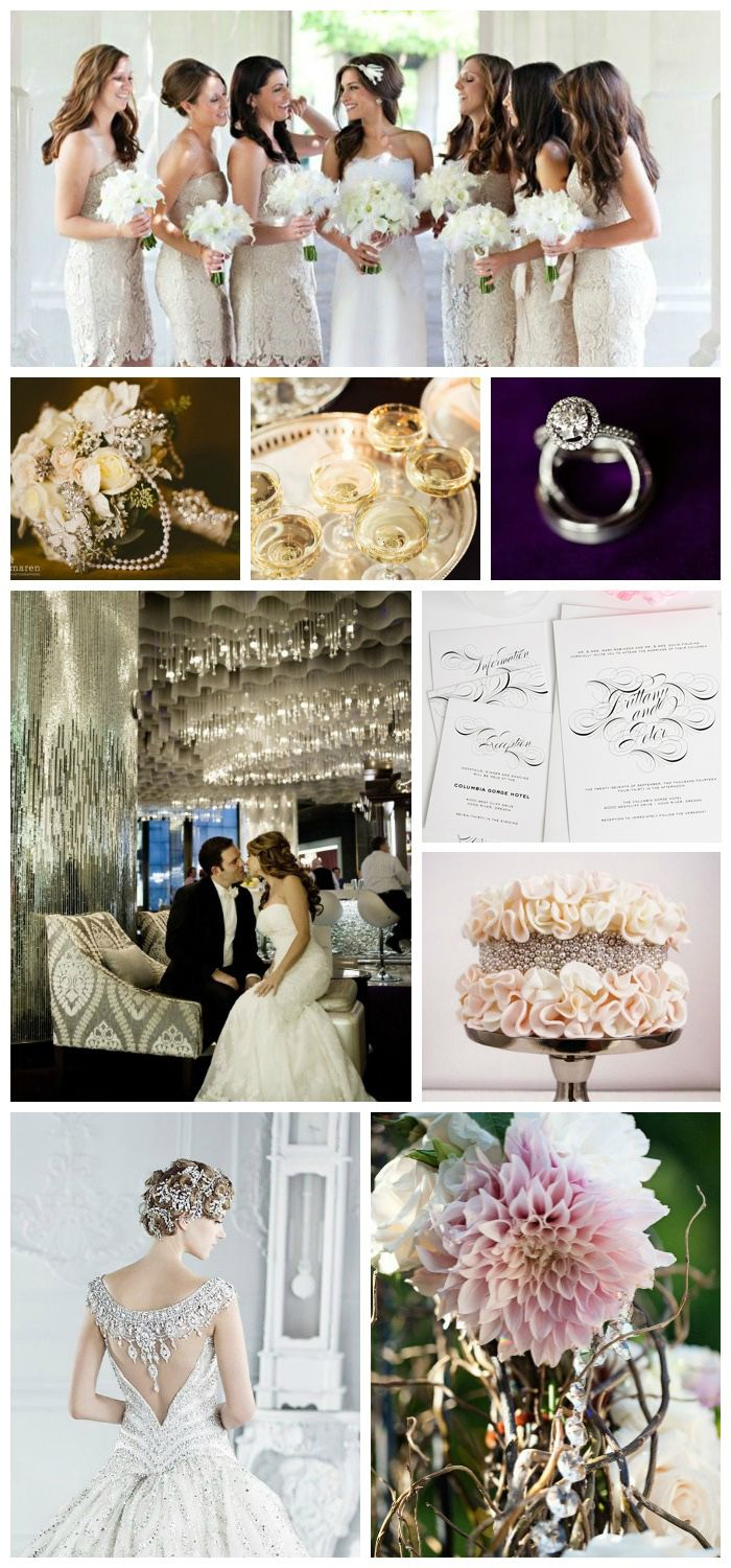Glam Wedding Inspiration in Black, Gold and Silver!