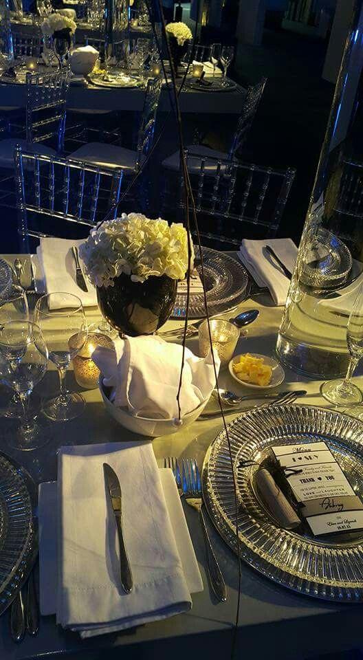 Hydrangea In Black Goblets