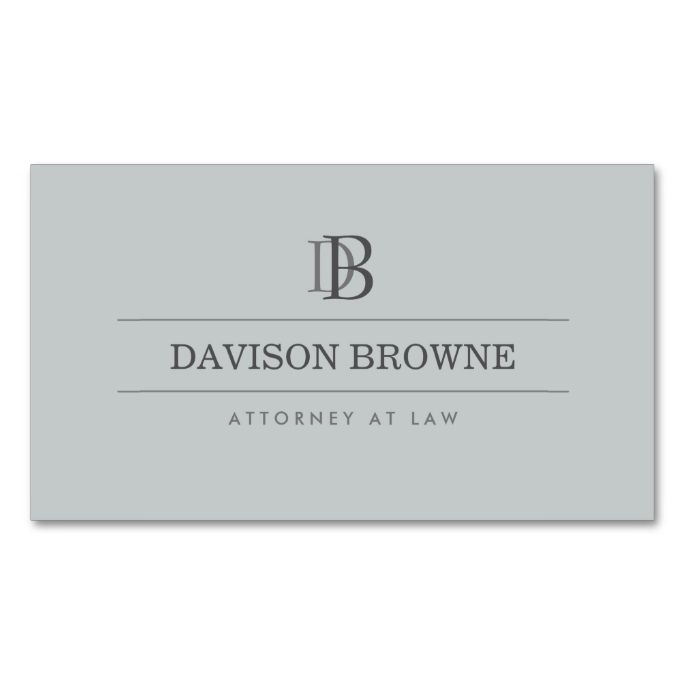 Professional monogram attorney lawyer slate business card for Best attorney business cards