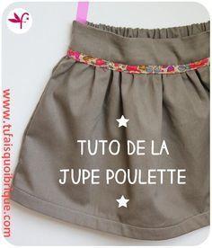 Jupe POULETTE - TUTO GRATUIT 2 à 10 ans Fée Poulette