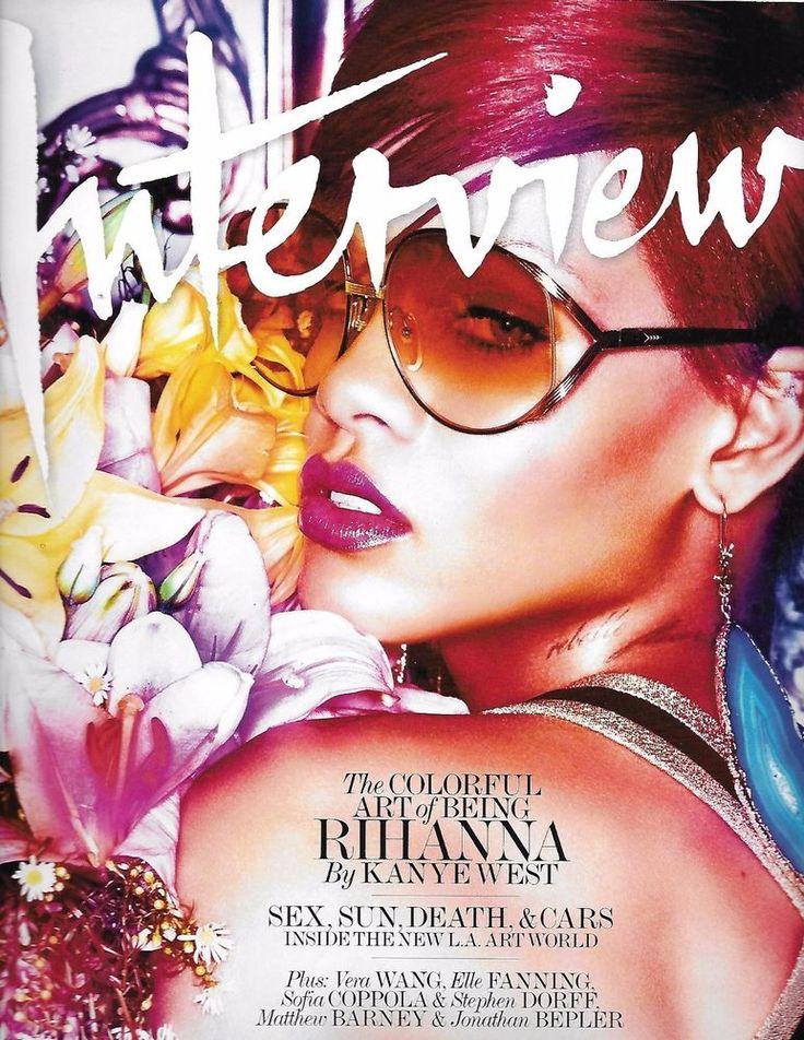 Interview magazine Rihanna Kanye West Los Angeles art world Vera Wang