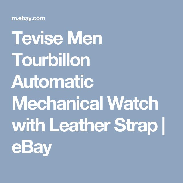 Tevise Men Tourbillon Automatic Mechanical Watch with Leather Strap  | eBay