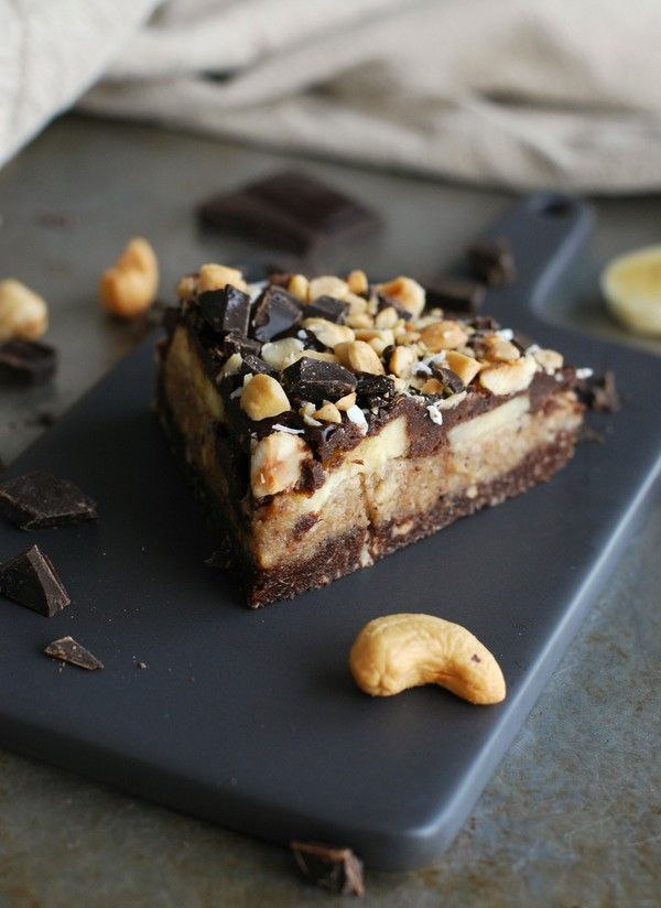 No bake Chocolate cashew pie