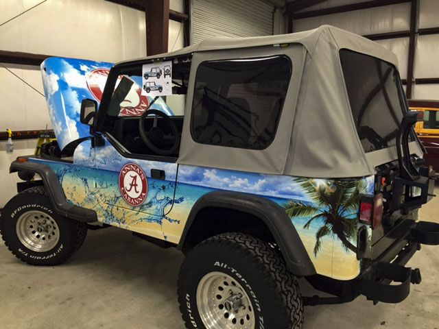 Full vehicle wrap by Pensacola Sign in Pensacola, Florida. 🚗💨 On Average, vehicle wraps cost less than $1 per thousand impressions and outdoor advertising like vehicle graphics have the greatest return on investment. Let us help you create your perfect rolling billboard! #pensacolasign