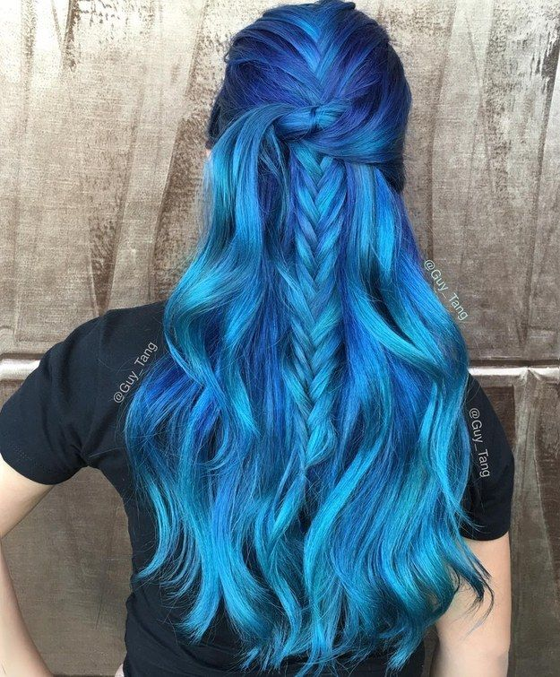 Ocean Blue | 21 Bold AF Hair Colors To Try In 2016