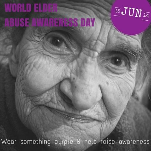 World Elder Abuse Awareness Day - 15 June. Visit http://www.sa.agedrights.asn.au if you need advice or suspect abuse.