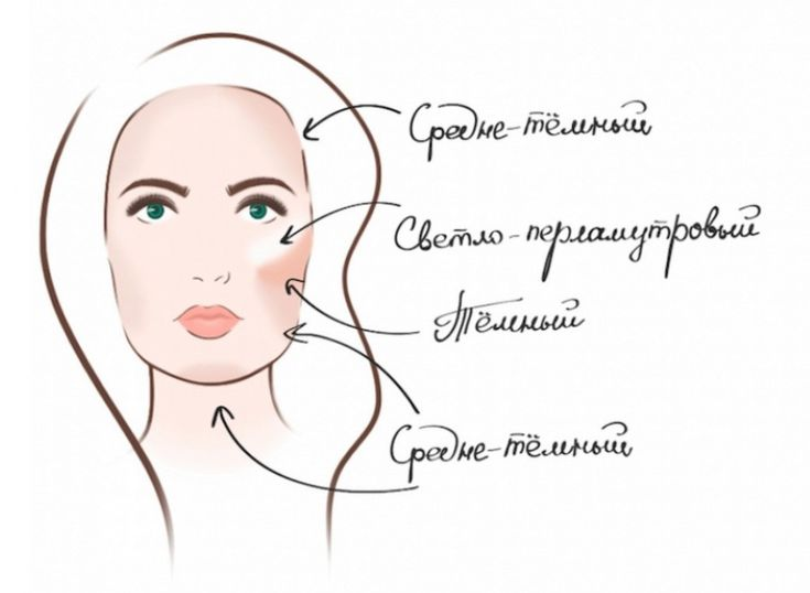 Схемы коррекции лица: румяна и брови 7