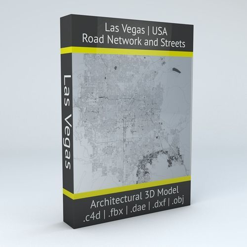 Las Vegas Road Network and Streets | 3D Model