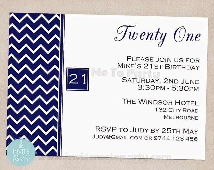 Invite Me To Party: Chevron 21st, 30th, 40th 50th Invitation