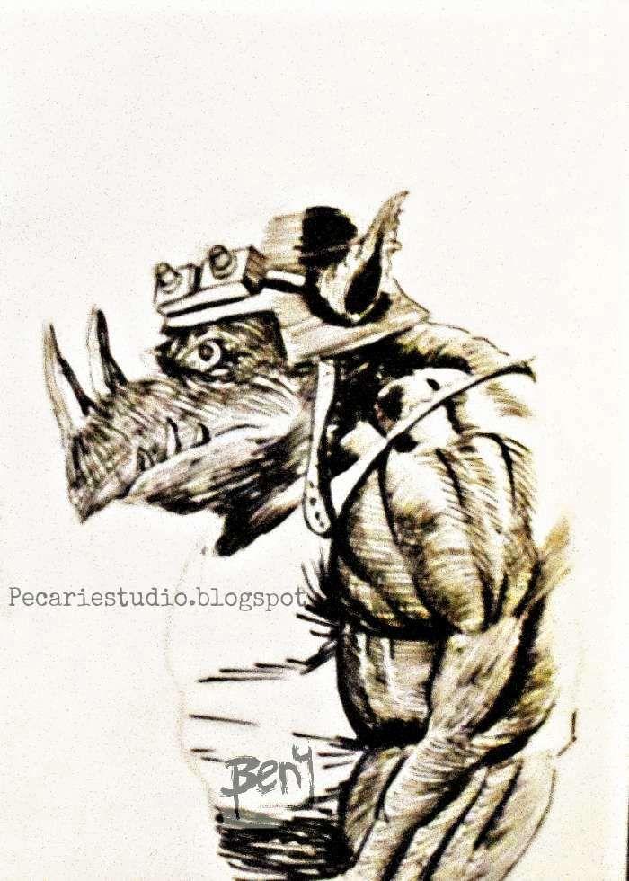 #Art #FanArt #Rocksteady #Pecariestudio #CarlosBenitez #BlancoyNegro #Dibujo #Ilustración