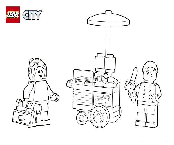 Lego City Ausmalbilder Ausmalen Lego Stadt