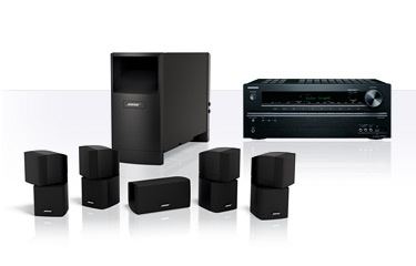 BOSE - Acoustimass® 10 speaker system with Onkyo® TX-NR414 receiver