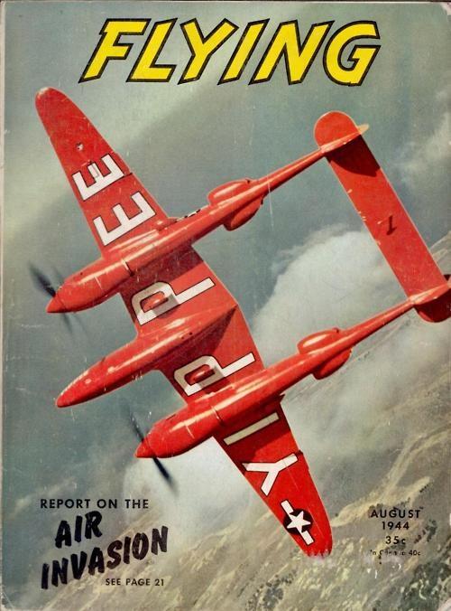 scanzen:    Lockheed P-38 Lightning, Flying Magazine, Aug 1944.