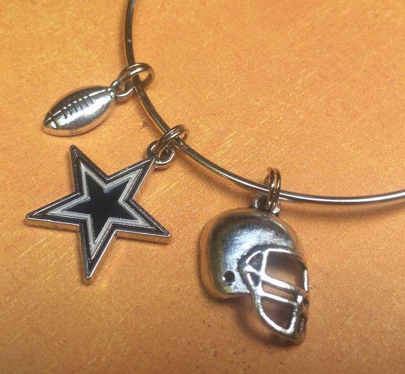 Dallas Cowboy Football Charm Bracelet. NFL by JewelBoxOfGeorgia