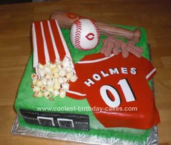 83 best Sports Cakes images on Pinterest Baseball party Petit