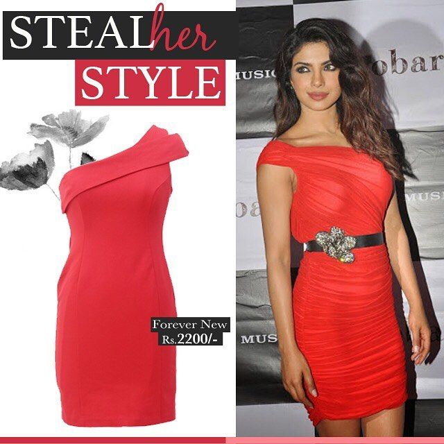 V-day inspiration from #peecee . Get this look from #rekinza today #red #redhot #valentines #valentinesday #priyankachopra #quantico #bajiraomastani #kashibai #bollywood #bollywoodfashion #celebstyle #stylesteal #getthelook #stylediairies