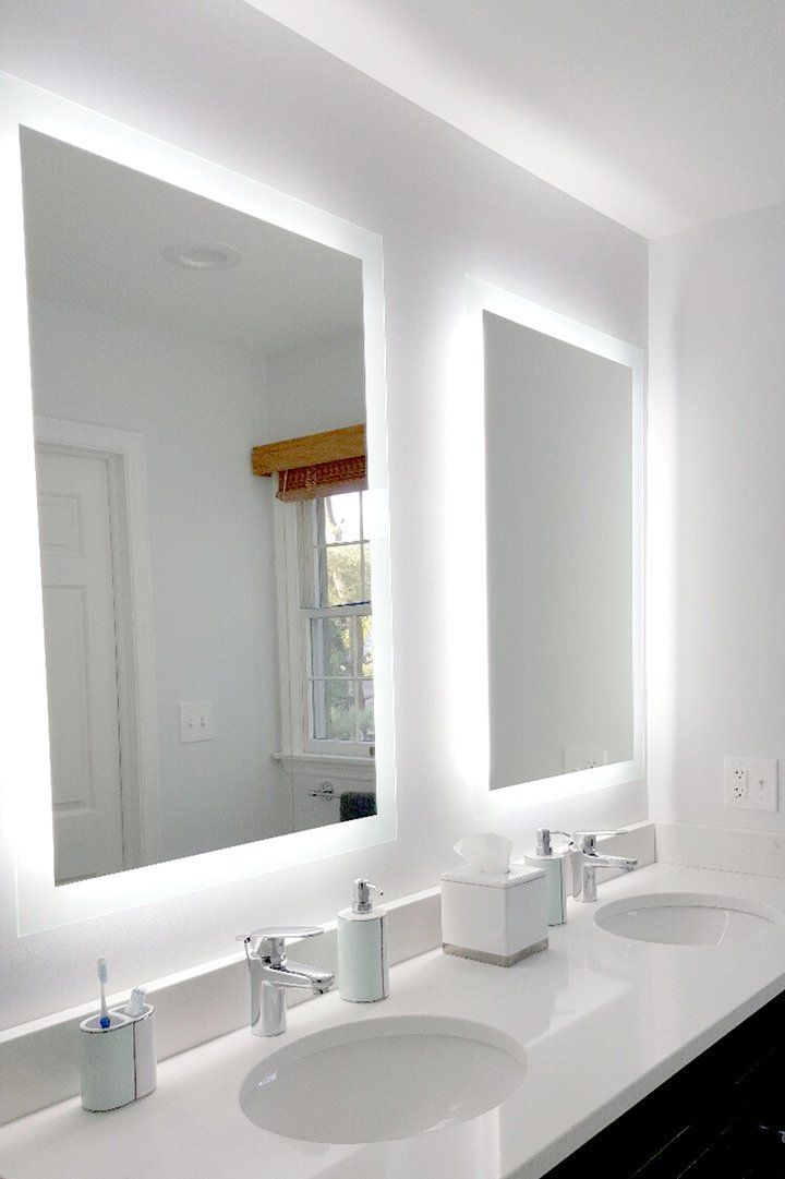 Side Lighted Led Bathroom Vanity Mirror 32 Wide X 48 Tall Rectangular Wall Mounted In 2020 Elegant Bathroom Bathroom Vanity Mirror Bathroom Interior